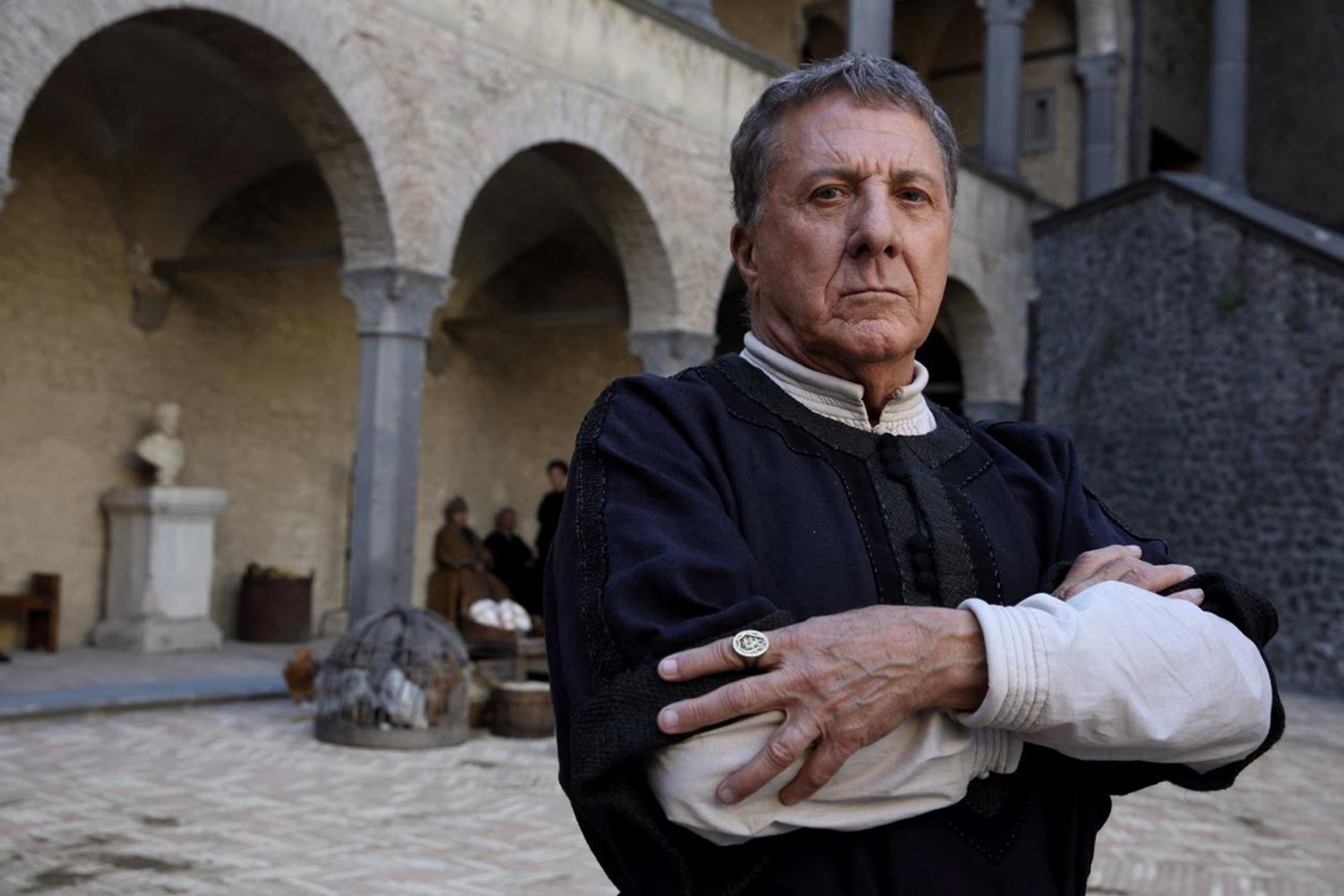 Dustin Hoffman in Medici: Masters of Florence